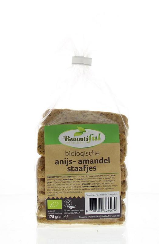 Bountiful Bountiful Anijs amandel staafjes bio (175 gram)