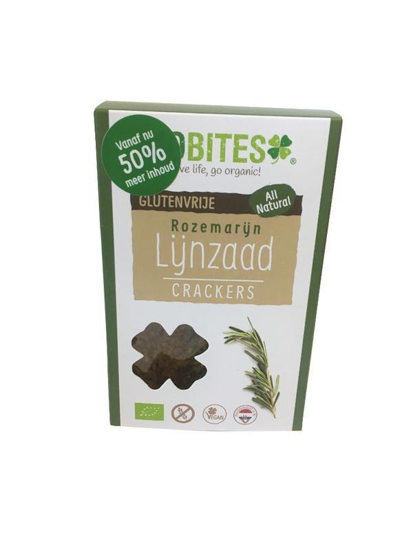 Biobites Biobites Lijnzaadcrackers rozemarijn (90 gram)