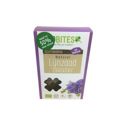 Biobites Lijnzaadcrackers naturel (90 gram)