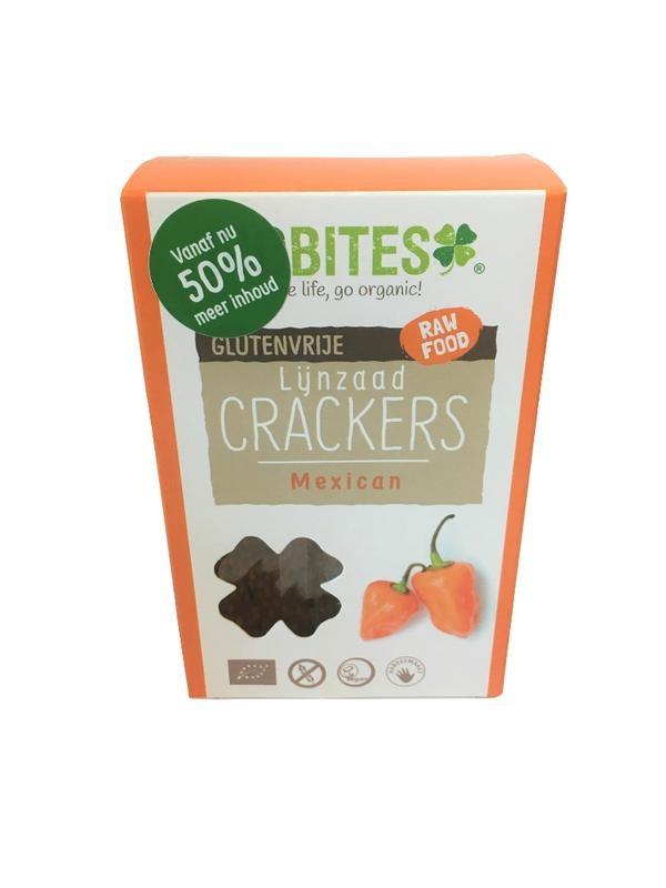 Biobites Biobites Raw food lijnzaadcrackers Mexican (90 gram)