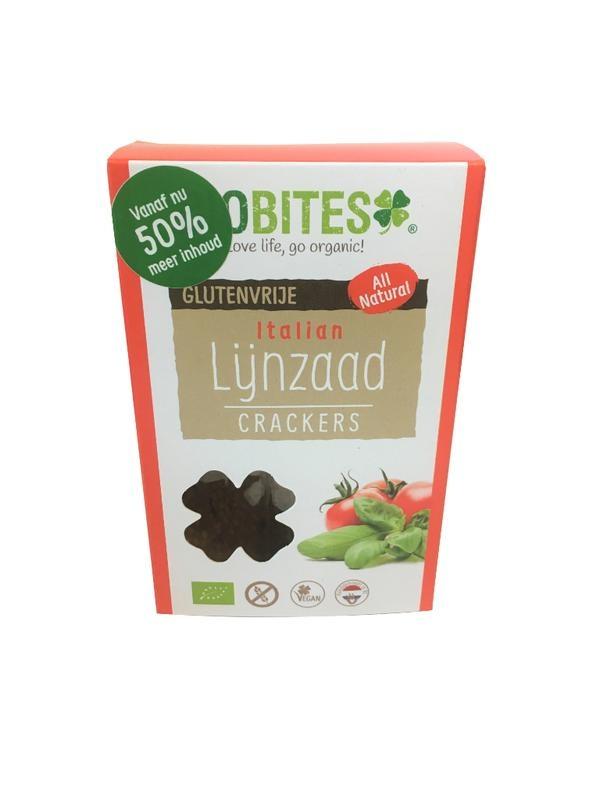 Biobites Biobites Lijnzaadcrackers Italian (90 gram)