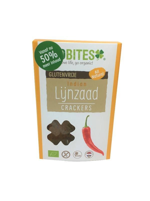 Biobites Biobites Lijnzaadcrackers Indian (90 gram)