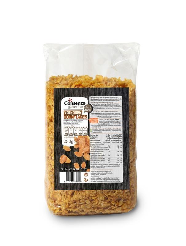 Consenza Consenza Cornflakes volkoren (250 gram)