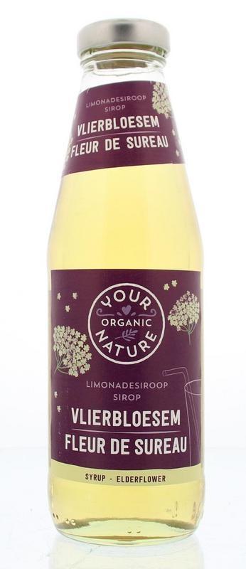 Your Organic Nat Your Organic Nat Limonadesiroop vlierbloesem (500 ml)