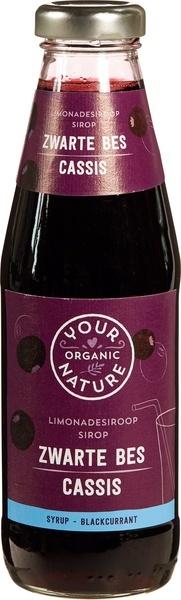 Your Organic Nat Your Organic Nat Limonadesiroop zwarte bes (500 ml)