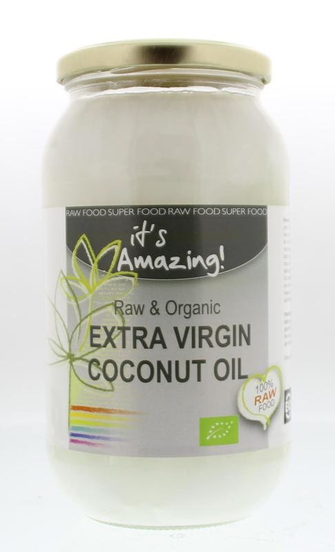 It's Amazing It's Amazing Kokosolie extra virgin bio in glas (1 liter)
