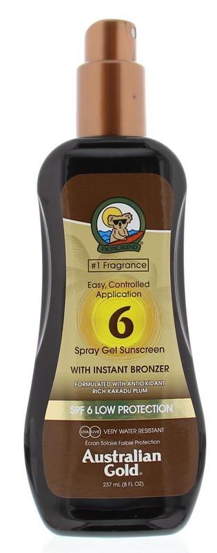 Spray gel met bronzer SPF6