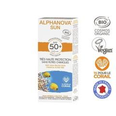 Sun creme SPF50 bij zonne-allergie en waterproof