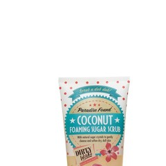 Dirty Works Foaming sugar scrub coconut (250 gram)