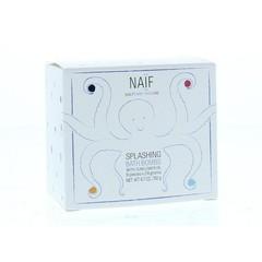 Naif Bath bomb splashing 19 gram (8 stuks)