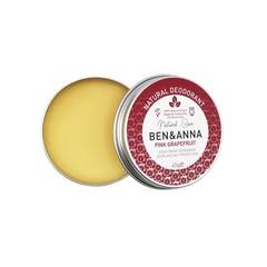Ben & Anna Natural deodorant creme pink grapefruit blikje (45 gram)