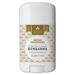 Ben & Anna Natuurlijke deodorant stick Indian mandarine (60 gram)