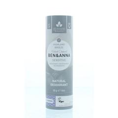 Ben & Anna Deodorant highland breeze sensitive (60 gram)