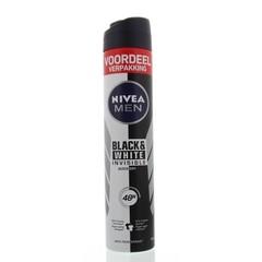 Nivea Men deodorant black & white XL spray (200 ml)