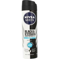 Nivea Men deodorant spray invisible black & white fresh (150 ml)