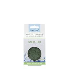 Skoon Konjac spons green tea bio (1 stuks)