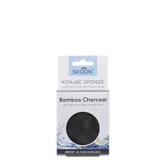 Skoon Konjac spons bamboo charcoal bio (1 stuks)