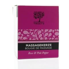 Treets Massage candle rose & pink pepper (140 gram)