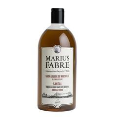 Marius Fabre Zeep navulling sandelhout (1 liter)