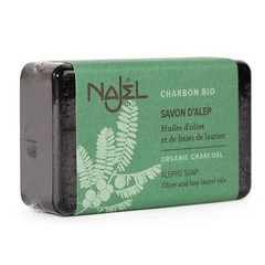 Najel Aleppo olijfzeep met charcoal (100 gram)