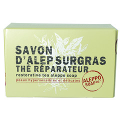 Aleppo Soap Co Aleppo zeep met thee in doosje (150 gram)