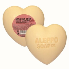 Aleppo Soap Co Hartzeep roos in cellofaan (200 gram)