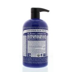 Dr Bronners Shikakai zeep pepermunt (710 ml)