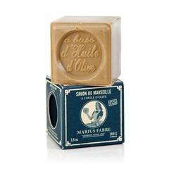 Marius Fabre Savon marseille zeep in doos olijf (100 gram)