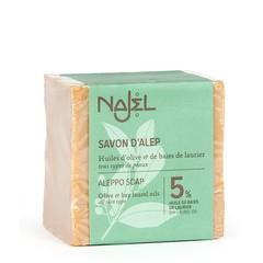 Najel Aleppo zeep olijf + 5% laurierbes (200 gram)