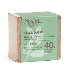Najel Aleppo zeep laurier olie 40% (185 gram)