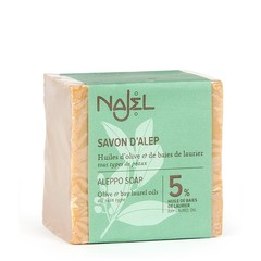 Najel Aleppo olijf zeep 5% laurier (190 gram)