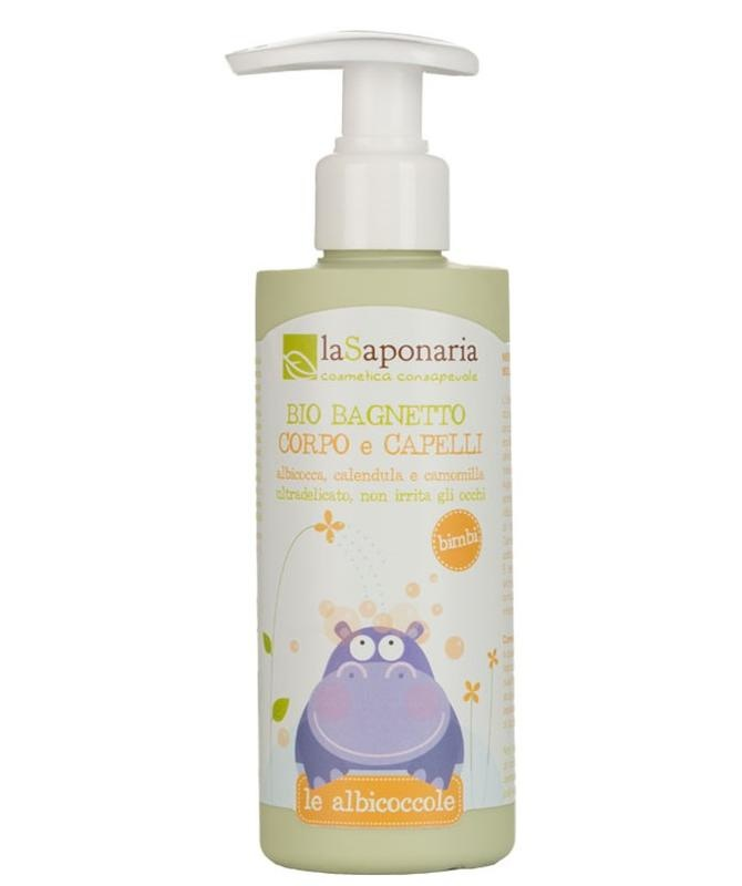 La Saponaria La Saponaria Baby lichaam & haar bio milde reiniging (200 ml)
