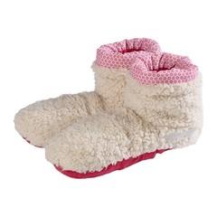 Warmies Slippies boots sherpa beige/roze 37 - 42 (1 paar)