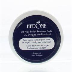 Herome Nagel caring remover pad (30 stuks)