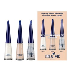 Herome French manicure set salmon 3 x 10 ml (1 stuks)