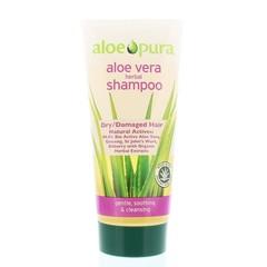 Optima Aloe pura shampoo aloe vera droog/beschadigd haar (200 ml)