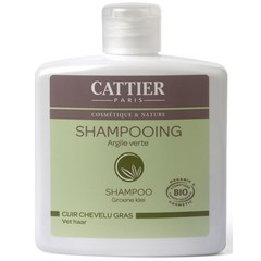 Cattier Shampoo vet haar groene klei (250 ml)