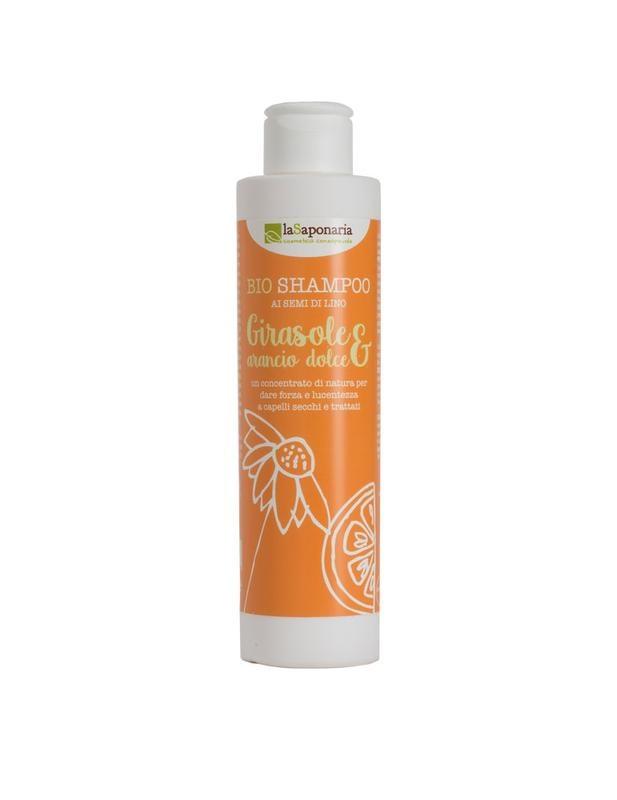 La Saponaria La Saponaria Shampoo bio zonnebloem & zoete sinaasappel (200 ml)