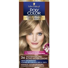 Poly Color Creme haarverf 36 midden asblond (90 ml)