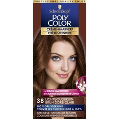 Poly Color Creme haarverf 38 licht goudbruin (90 ml)