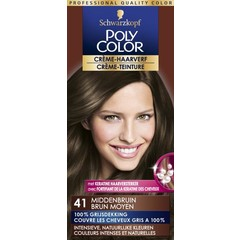 Poly Color Creme haarverf 41 middenbruin (90 ml)
