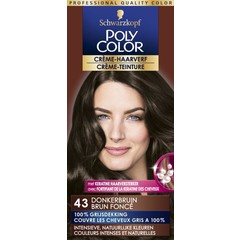 Poly Color Creme haarverf 43 donkerbruin (90 ml)