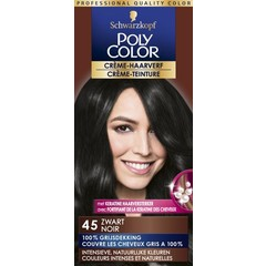 Poly Color Creme haarverf 45 zwart (90 ml)
