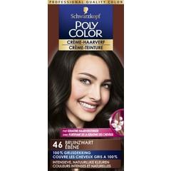 Poly Color Creme haarverf 46 bruin zwart (90 ml)