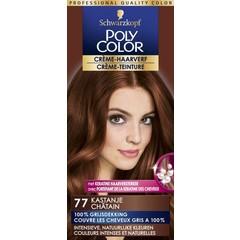 Poly Color Creme haarverf 77 kastanje (90 ml)