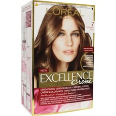 Loreal Excellence 7 middenblond (1 set)