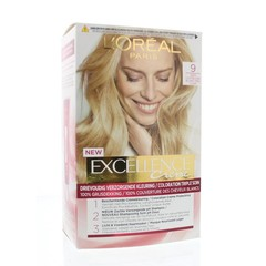 Loreal Excellence 9 zeer lichtblond (1 set)