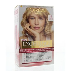 Loreal Excellence 8 lichtblond (1 set)