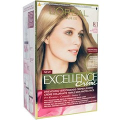 Loreal Excellence 8.1 licht asblond (1 set)