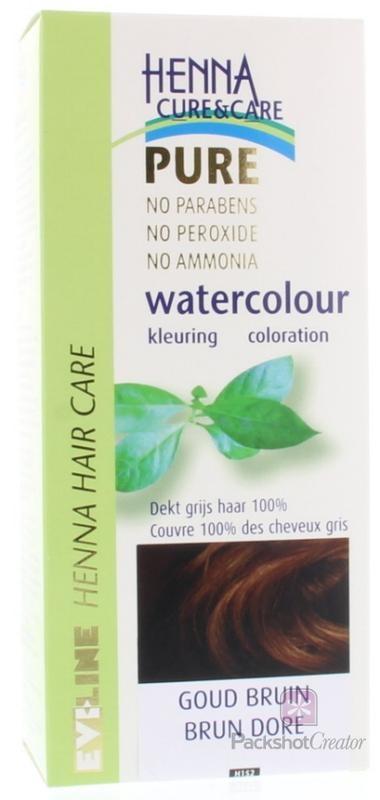 Henna Cure & Care Henna Cure & Care Watercolour goudbruin (5 gram)